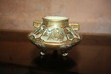 Rare Antique Porcelaien japonaise pot non couvert Satsuma Censer Signed Meiji
