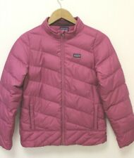 PATAGONIA GIRLS DOWN QUILTED PUFFER JACKET WINTER COAT SIZE XL 14 - PINK