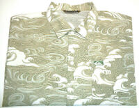 QUIKSILVER MENS SIZE XL WAVY PATTERNED CASUAL SHORT SLEEVE SHIRT FREE POST