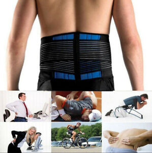 Unisex Breathable Waist Belt Brace For Pain Relief Lower Back Therapy Support ☆