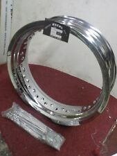 "FX-FL-PAN-KNUCKLE-CHOPPER ""NEW OLD STOCK"" 16""X 4.25 CHROME ALUMINUM RIM #73249"