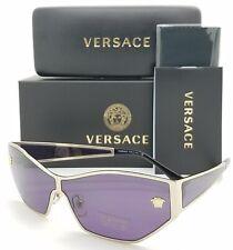 NEW Versace sunglasses Medusa VE2205 12521A 57 Pale Gold Violet AUTHENTIC Medusa