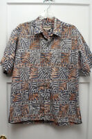 Vintage Cooke Street  Hawaiian Shirt - Sz M - Hawaiian Tribal Design