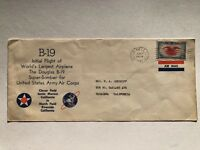 1941 Cover Envelope of Initial Flight of B-19 Plane - Worlds Largest Airplane