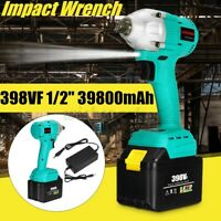 680Nm 1/2'' Brushless Cordless Electric Impact Wrench 398VF 39800mAh
