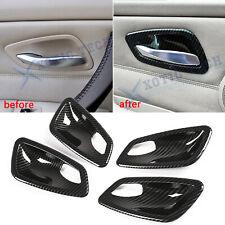 For BMW 3 Series E90 E91 M3 4-Door Carbon Fiber ABS Door Handle Bowl Cover Trims