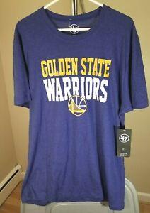 Golden State Warriors NBA '47BRAND Classic Blue Team Logo XL T-Shirt
