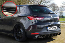 Heckansatz Diffusor Heckspoiler aus ABS für Seat Leon 5F FR schwarz glänzend