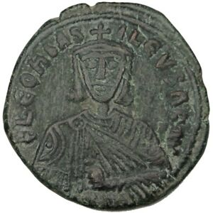 [#31350] Leo VI the Wise 886-912, Follis, Constantinople, AU(50-53), Copper