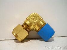 "Lot of (3) New Swagelok Brass 3/8"" Tube x 3/8"" MNPT Male Elbows, B-600-2-6"
