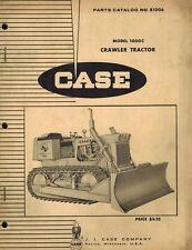 Case Vintage 1000c Crawler Tractor Parts Manual No B1006