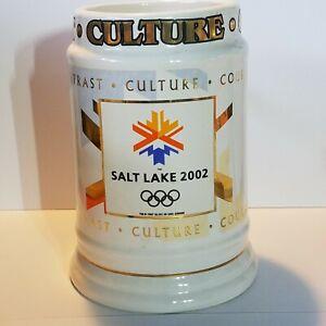 "2002 Salt Lake City Winter Olympics Stein Mug Large 6 1/2"" Height"