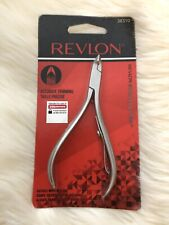 New Revlon Accurate Trimming Stainless Steel Cuticle Nippers 1/2 Half-Jaw #38310