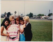 Vintage 80s PHOTO Group Teen Girls w/ 1980s Hairdos Brunettes Blonds & Redhead