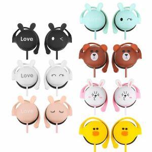 Headsets Student Earphone Cartoon Earphone Hanging Wired Headset Headphone