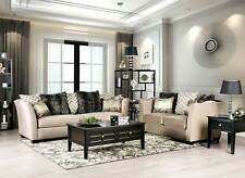 NEW Living Room Furniture - Beige Fabric 2 piece Sofa Couch Loveseat Set IRDA