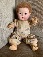 ADORABLE, RARE EFFANBEE, MID-FIFTIES 15' DY DEE BAY- ORIGINAL CLOTHES AND HAIR