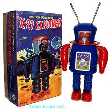X-27 Astronaut Robot Windup Tin Toy