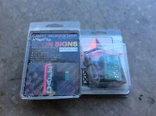 O- Gauge Light Works Usa. Animated Neon Sign. 2 signs Cafe & Citgo Nip