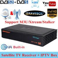 iBRAVEBOX V8 Magic DVB-S/S2 1080P Digital Satellite Receiver + TV Box H.265 WIFI