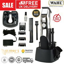 Wahl RECHARGEABLE Clippers Beard Hair Moustache Cordless Trimmer Grooming Set