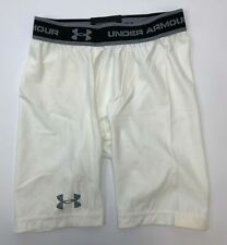 Under Armour Long Compression Short Men Size Small White NWOT
