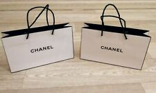 2x Authentic Chanel Paper Shopping Gift Bag Tote White VIP GIFT