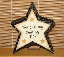 Country Decor Wood Sign Freestanding Block Star Shinning Star Buy 2 get 1 free