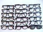 Vintage+Mens+LOT+of+18+USS+Black+Retro+Hornrim+60%27s+Eyeglasses+Frames+%23712
