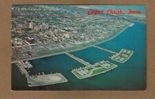 Corpus Christi,TX Texas, very high bird's eye aerial view of downtown