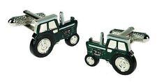 Onyx Art Men'S Cuff-Links Farming Tractor In Green Farm Vehicle #Ck647