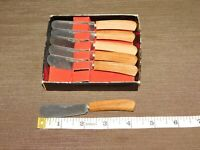 "VINTAGE KITCHEN 4 1/4"" LONG JAPAN STAINLESS STEEL SET OF 6 BUTTER KNIVES NEW"