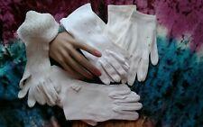 #9 Vtg Lot 7 Pr🌺Women's Gloves White Small 6-7 Excellent Original