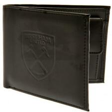 West Ham United Fc Utd Black Faux Leather Debossed Wallet Mens Gift