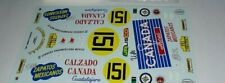 1/32 decals ONLY- PORSCHE 356 COUPE- CALZADO CANADA-IV Carrera Panamericana 53