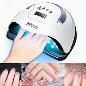 180W LED UV Lampe Nagel Gel Lichthärtungsgerät Sensor Nageltrockner 4 Timer