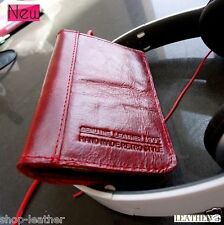 genuine real soft leather case for iphone 4s 4 book wallet red cover slim retro