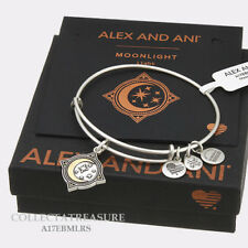 Authentic Alex and Ani Moonlight Rafaelian Silver Expandable Charm Bangle