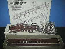 HO Accurail: Open Auto Rack- 9200/9300 series. Undecorated plastic kit. C-10 sc