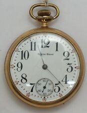 South Bend 16 Size Grade 219 19 Jewel 1914 Hand Engraved Pocket Watch Runs LW182