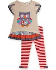 Rare Editions Owl Top & Leggings 2-Piece Outfit Infant Baby Girl 6-9 Months NEW