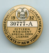 1932 New York Hunting Special Deer License #30777-A