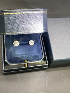 Brand New Platinum Charles&Colvard Certified 2ct Moissanite diamonds earrings