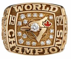 1992 Toronto Blue Jays World Series Championship Ring Brass Gold