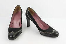 Zapatos CHARLES JOURDAN Bis Cuero y Ante Negro T 35,5 B MUY BUEN ESTADO