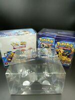 Pokemon Booster Box Plastic Protector Case WOTC Sun and moon