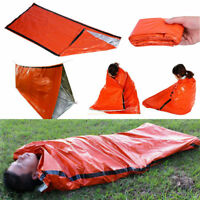 Portable Emergency Thermal Sleeping Bag Survival Camping Hiking Waterproof BT