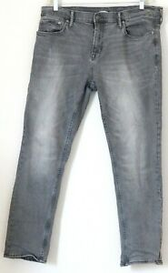 Old Navy Mens Jeans Built in Flex Skinny Gray Size 38x31 Stretch Distressed