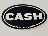 "Johnny Cash ""CASH"" Rock Roll Oval Decal Vinyl Sticker The Man In Black"