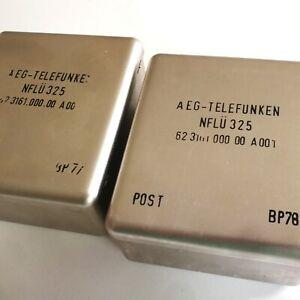 Pair vintage Telefunken NFLÜ 325 600ohm line transformers Heavy iron: 2lbs each!